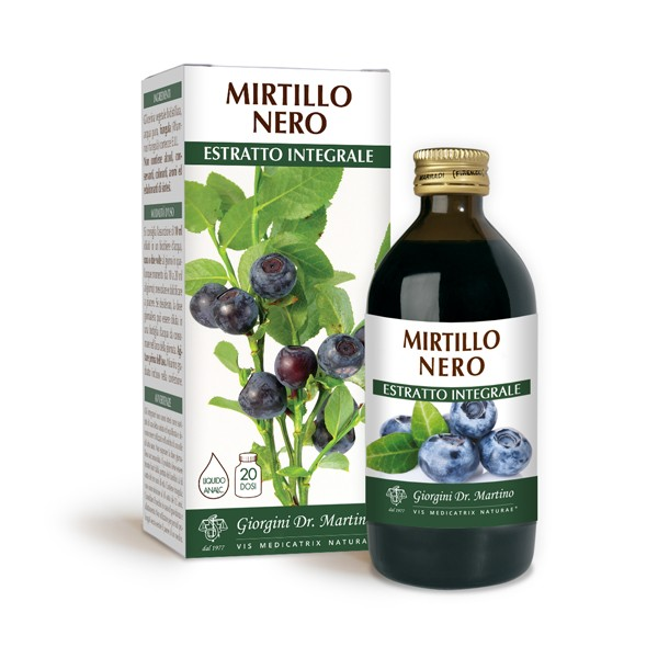 MIRTILLO NERO ESTRATTO INTEGRALE 200 ml