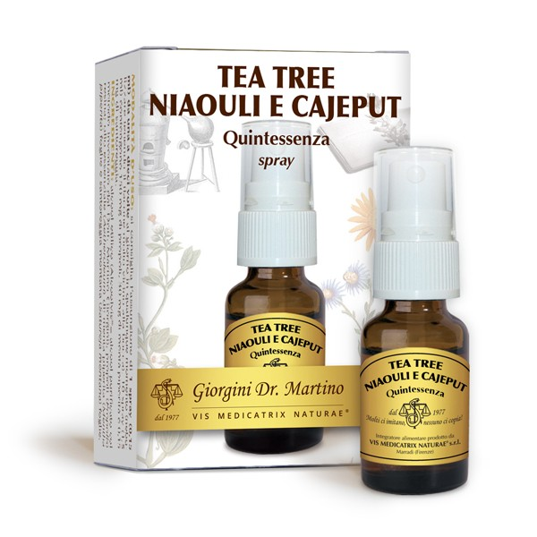 TEA TREE NIAOULI E CAJEPUT Quintessenza 15 ml spray